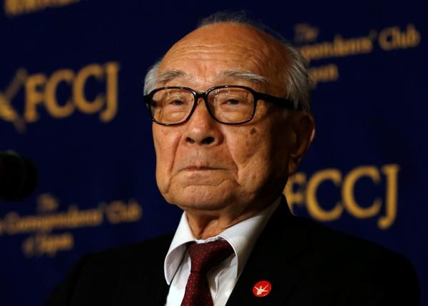 Terumi Tanaka, a survivor of the atomic bombing and head of a national organization of bombing survivors called Nihon Hidankyo, attends a news conference at the Foreign Correspondents' Club of Japan in Tokyo, Japan, May 19, 2016. Photo: Reuters/Issei Kato