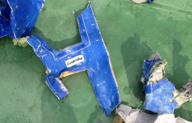Recovered debris of the EgyptAir jet that crashed in the Mediterranean Sea is seen in this handout image released May 21, 2016 by Egypt's military. Photo: Egyptian Military/Handout via Reuters