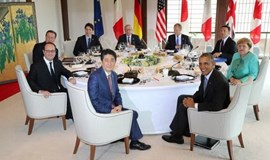 Japan's Abe points to 2008 crisis as G7 leaders debate global risk
