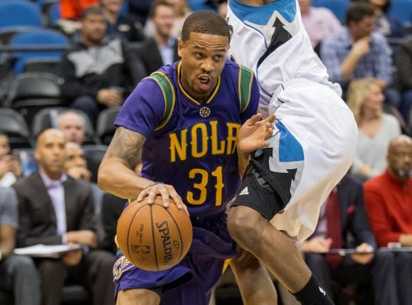 New Orleans Pelicans guard Bryce Dejean-Jones (31) dribbles the ball past a Minnesota Timberwolves player in the first half at Target Center on Feb 8, 2016. Mandatory Credit: Jesse Johnson-USA TODAY Sports/File Photo