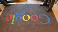 A Google carpet is seen at the entrance of the new headquarters of Google France before its official inauguration in Paris, France December 6, 2011. Photo: Reuters/Jacques Brinon/Pool/File Photo