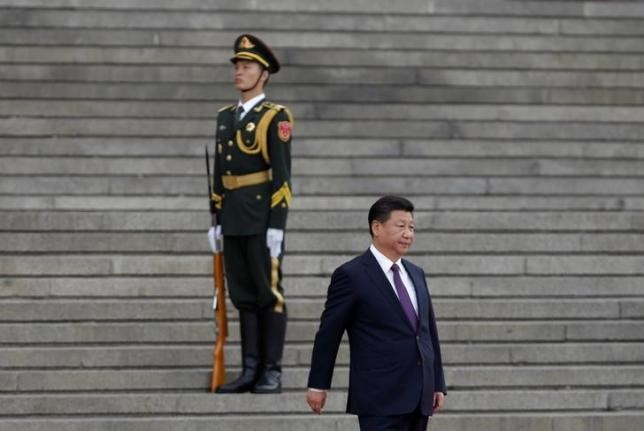 China's President Xi Jinping arrives for a welcoming ceremony for Togo's President Faure Gnassingbe (not in picture) outside the Great Hall of the People in Beijing, China, May 30, 2016. Photo: Reuters/Jason Lee
