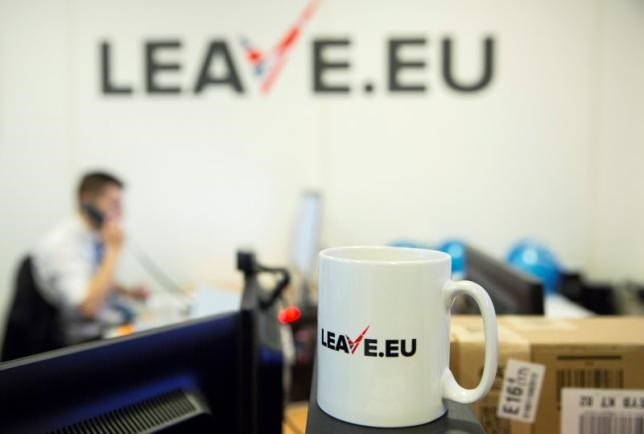 A worker answers a telephone in the office of Brexit group pressure group ''LEAVE.EU'' in London, Britain February 12, 2016. Photo: Reuters/Neil Hall