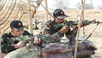 """Vietnamese police officers joined the """"FORCE 18"""" drill in India from March 2-8, 2016. Photo: VNA"""