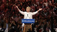 Hailing a first, Clinton declares herself the Democratic nominee