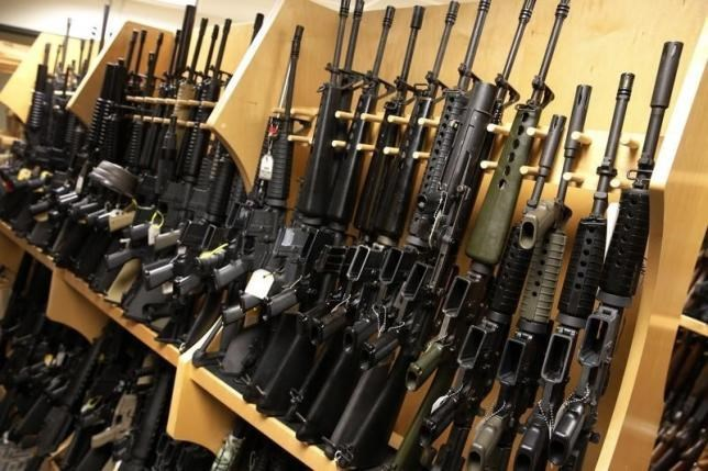 AR-15 rifles line a shelf in the gun library at the U.S. Bureau of Alcohol, Tobacco and Firearms National Tracing Center in Martinsburg, West Virginia December 15, 2015. Photo: Reuters/Jonathan Ernst