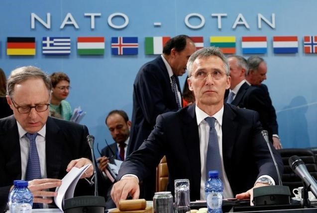 NATO Secretary-General Jens Stoltenberg chairs a NATO defence ministers meeting at the Alliance headquarters in Brussels, Belgium, June 14, 2016. Photo: Reuters/Francois Lenoir