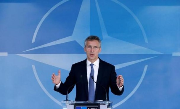 NATO Secretary-General Jens Stoltenberg briefs the media during a NATO defense ministers meeting at the Alliance headquarters in Brussels, Belgium, June 14, 2016. Photo: Reuters/Francois Lenoir