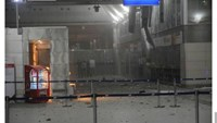 A view of the entrance of the Ataturk international airport after two suicide bombers opened fire before blowing themselves up at the entrance, in Istanbul, Turkey June 28, 2016. Courtesy of 140journo/via Reuters.