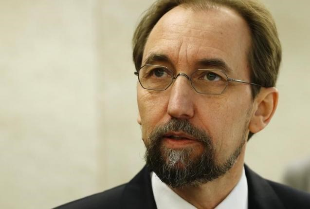 United Nations (U.N.) High Commissioner for Human Rights Zeid Ra'ad Al Hussein arrives for the 31st session of the Human Rights Council at the U.N. European headquarters in Geneva, Switzerland, February 29, 2016. Photo: Reuters/Denis Balibouse