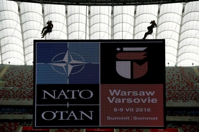 Soldiers demonstrate their skills during a military police exercise before the NATO summit in July in Warsaw, at the PGE National Stadium in Warsaw, Poland May 24, 2016. Photo: Reuters/Kacper Pempel