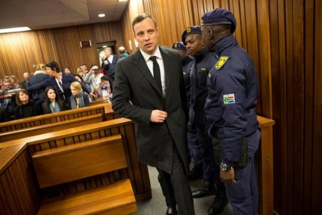 Olympic and Paralympic track star Oscar Pistorius arrives for sentencing at the North Gauteng High Court in Pretoria, South Africa, July 6, 2016. Photo: Reuters/Marco Longari/Pool
