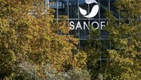 The Sanofi logo is seen at the company's Sanofi Pasteur headquarters in Lyon, France, October 26, 2015. Photo: Reuters/Robert Pratta