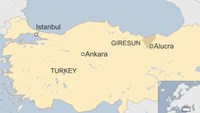 The helicopter crashed at around 5:15 pm (1415 GMT) near Tohumluk village in the Alucra district of Giresun province, the military said