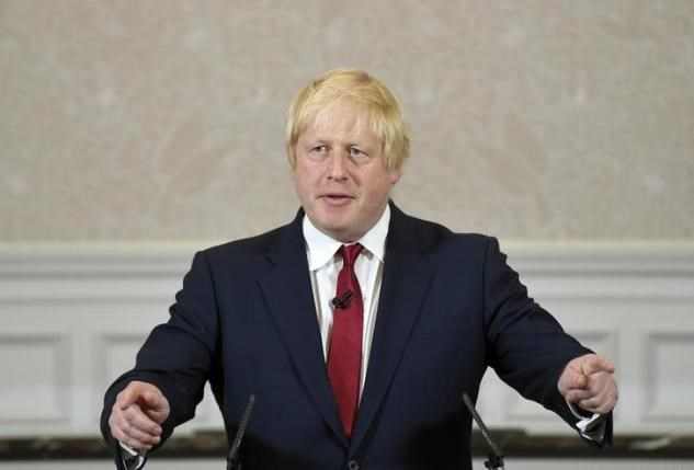Vote Leave campaign leader, Boris Johnson, reacts as he delivers a speech in London, Britain June 30, 2016. Photo: Reuters/Toby Melville