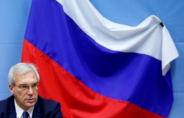 Russian ambassador to NATO Alexander Grushko addresses a news conference after the NATO-Russia Council at the Alliance headquarters in Brussels, Belgium July 13, 2016. Photo: Reuters/Francois Lenoir