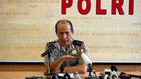 National Police spokesman Boy Rafli Amar gestures during a news conference regarding the suspected death of Indonesia's most wanted man, Santoso, at police headquarters in Jakarta, Indonesia July 19, 2016. Photo: Reuters/Darren Whiteside