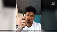 A still image from an undated video Islamic State posted July 19, 2016 in which a man whom it identifies as the Afghan refugee who attacked passengers with an axe on a train in Germany vows to carry out a suicide mission and urges other Muslims to do the same. Social Media via Reuters TV