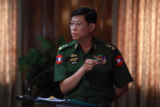 Mynamar Deputy Major General Mya Tun Oo attends a press conference in Yangon, Myanmar July 20, 2016. Photo: Reuters/Stringer