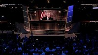 Republican U.S. presidential nominee Donald Trump speaks live via satellite from Trump Tower in New York City during the second session at the Republican National Convention in Cleveland, Ohio, U.S. July 19, 2016.Photo: Reuters/Mike Segar