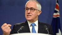 Australian Prime Minister Malcolm Turnbull speaks during a media conference in Sydney, Australia, July 25, 2016. AAP/Dan Himbrechts/via Reuters