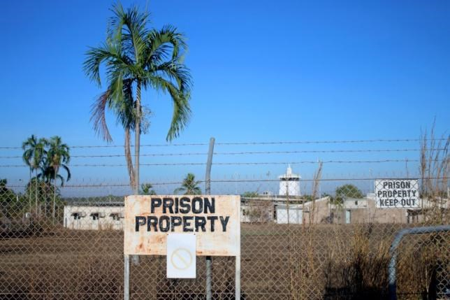 Barbed wire fences surround the Don Dale Youth Detention Centre located near Darwin in the Northern Territory, Australia, July 27, 2016. AAP/Neda Vanovac/via Reuters
