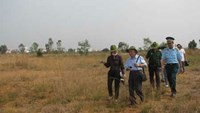 Experts inspect a dioxin hotspot at the Bien Hoa Airbase in Dong Nai Province, 32 kilometers to the northeast of Ho Chi Minh City
