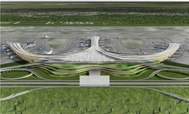 An artist's impression of Long Thanh International Airport