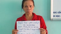 Ngo Thi Lan, the alleged leader of a baby trafficking ring recently busted by Ho Chi Minh City police