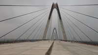 Work finishes on longest bridge in Hanoi