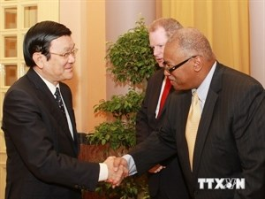 President Truong Tan Sang receives an ExxonMobil representative in Hanoi on May 22. Photo credit: Vietnam News Agency