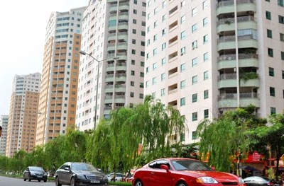 Apartment blocks in My Dinh II Residential Area in Hanoi