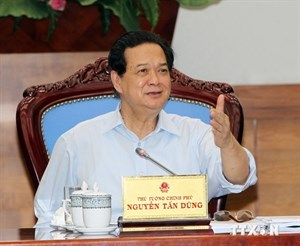 Prime Minister Nguyen Tan Dung chairs a government meeting in Hanoi on July 16. Photo credit: Vietnam News Agency