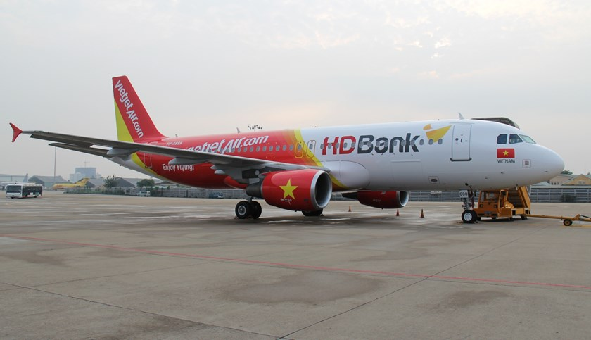 A VietJetAir's aircraft landed in Tan Son Nhat International Airport in Ho Chi Minh City. Photo credit: www.vietjetair.com
