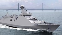 An artist impression of the Aviation Training Vessel to be built by Damen Song Cam Shipyard in Vietnam