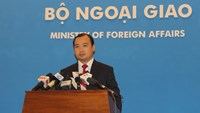 Ministry of Foreign Affairs spokesman at the press briefing on July 31. Photo credit: Dan Tri