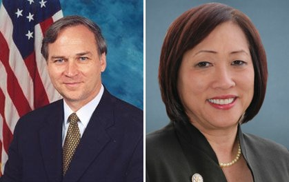 Rep. J. Randy Forbes, Chairman of the Seapower and Projection Forces Subcommittee, and Rep. Colleen Hanabusa, a member of the House Armed Services Committee