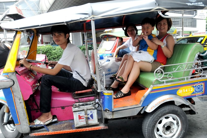 Vietnamese tourists in Thailand. Photo: Diep Duc Minh