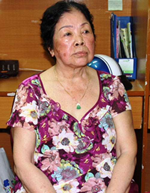 Nguyen Thi Miet, 80, the alleged leader of a large drug smuggling gang busted in Ho Chi Minh City