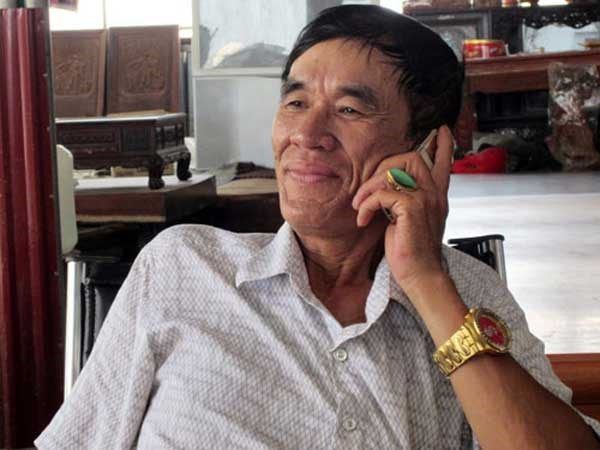 Nguyen Thanh Hung, 61, a timber tycoon among 10 people arrested for building a violent timber monopoly in Bac Ninh Province. Photo: Ngoc Thang