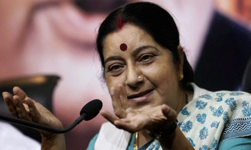 Indian Foreign Minister Sushma Swaraj in a file photo. Photo credit: Indian Express
