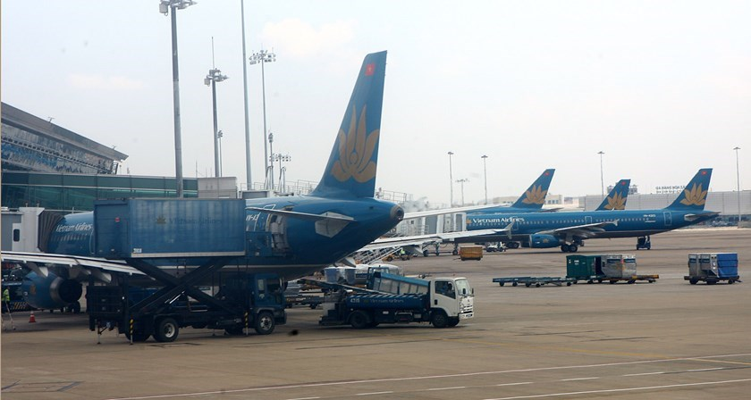 Vietnam Airlines planes at Ho Chi Minh City's Tan Son Nhat Airport. Photo: VNA