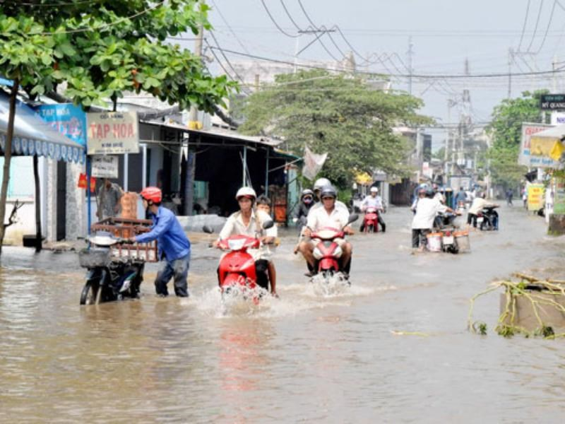 A flooded street in Ho Chi Minh City. Photo: Diep Duc Minh