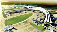 A digital rendering of Long Thanh International Airport