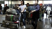 Passengers arriving at Hanoi's Noi Bai airport. Photo credit: AFP