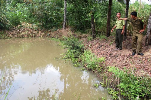 The site where a wild boar allegedly attacked a 15-year-old boy in Khanh Hoa Province on Saturday. Photo: Nguyen Chung