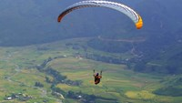 H'mong village becomes favorite landing spot for paragliders