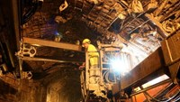 Rescuers drilling toward workers stuck in collapsed tunnel