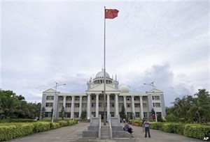 An administrative building that China illegally set up in Vietnam's Hoang Sa (Paracel) Islands. Photo credit: VNA