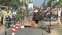 Mother, 2 kids fatally crushed by construction crane in Vietnam